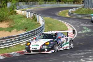 Jochen Krumbach und der Porsche 911 GT3 RSR von WTM-Racing Quelle: Hardy Elis