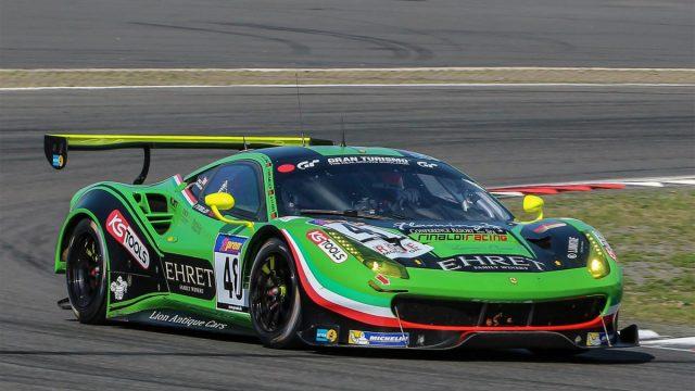 Erfolgreicher Test mit dem Ferrari 488 GT3